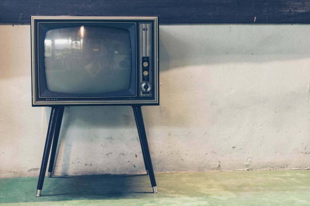 old tv, tv, black and white, new, unused